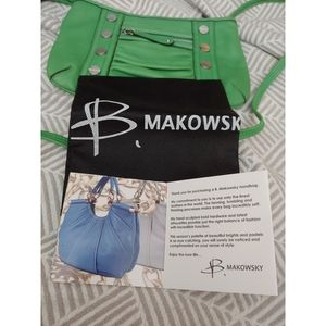 🎄 🆕Green B Makowsky Crossbody 👜 Purse 🎁